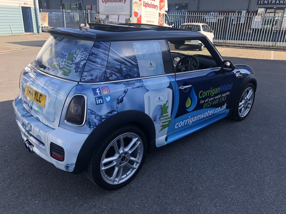 Corrigan Water Branded Mini Car