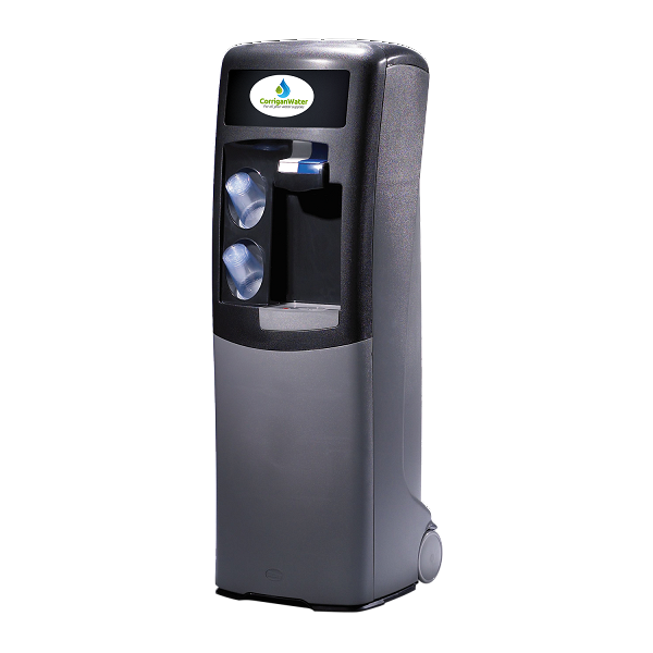 Mains fed water cooler in grey colour