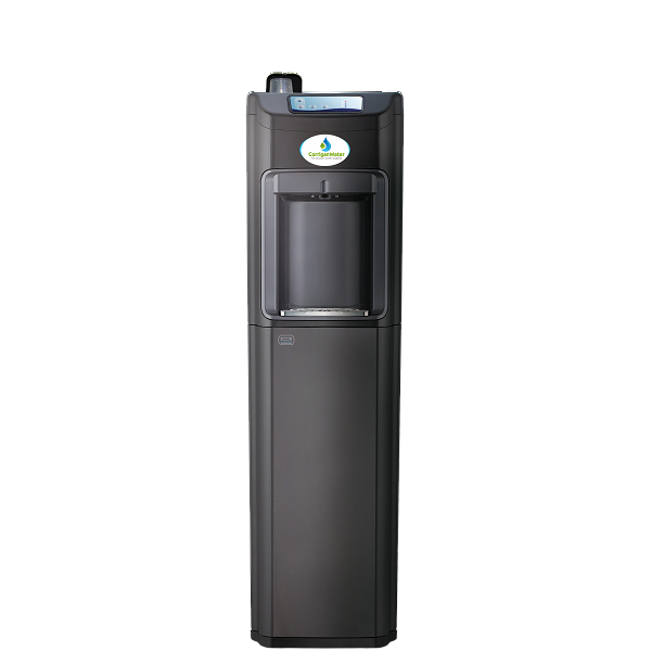 Tall Grey Mains Fed Water Cooler